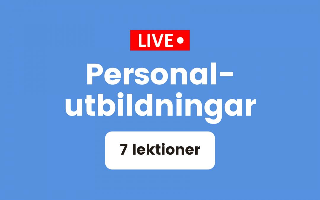 Live-sända personalutbildningar